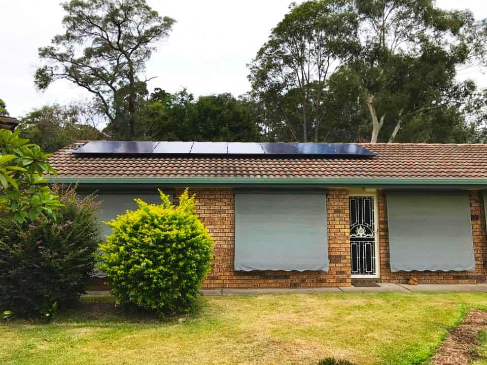 house with SolaXs solar panel roof